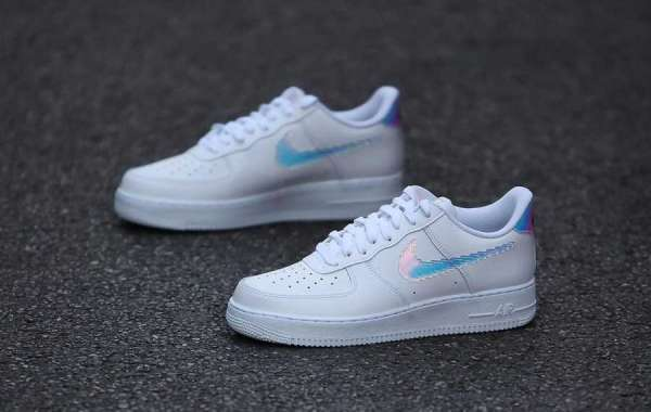 Latest 2021 Nike Air Force 1 LV8 GS White Multi Color Black CW1577-100