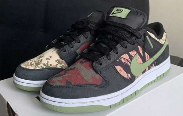 "Latest 2021 Nike Dunk Low SE ""Camo"" Skateboard Shoes"