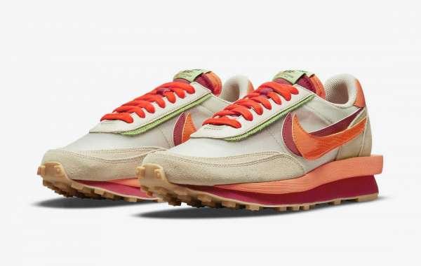 Best Selling Clot x Sacai x Nike LDWaffle Net Orange Blaze DH1347-100